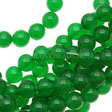 JADE GEMSTONES BEADS - ROUND GREEN JADE BEADS 6MM